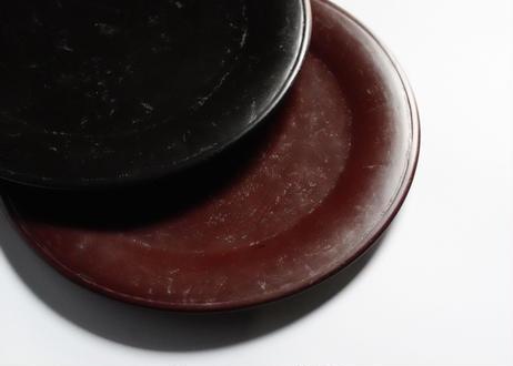 杉09 :  リム皿22cm /  朱(中間色)