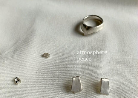 【SV925】デッサン/布 : Pierced Earrings