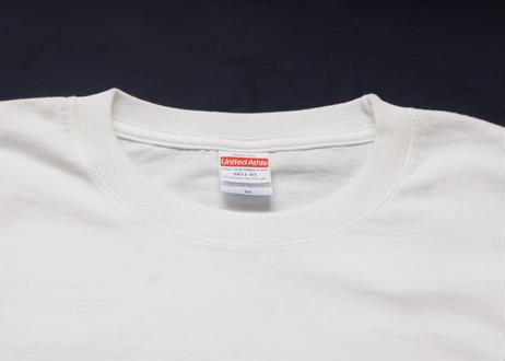 Satisfaction L/S Tee(Body:White, Print:Black)