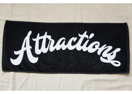 Attractions Logo Towel(Base:Black)