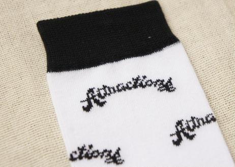 Attractions Logo Socks(Base:White)