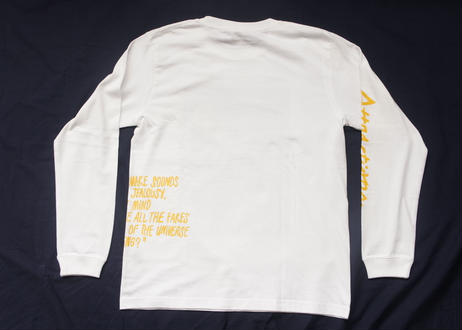 Satisfaction L/S Tee(Body:White, Print:Black)