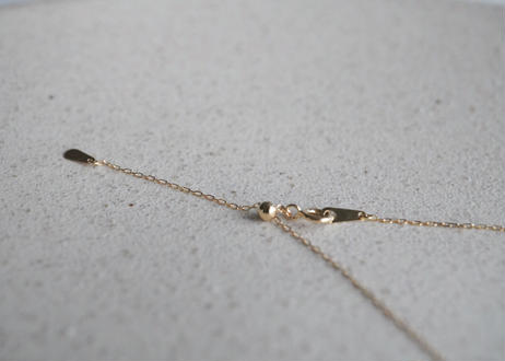 18k gold tube S necklace