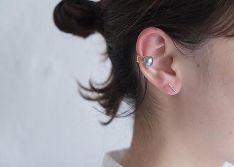Akoya  baroque blue earcuff