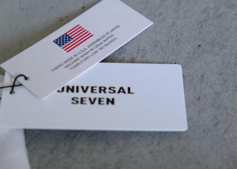 【UNIVERSAL SEVEN 】USA コットン リネンコンボ ロングプルオーバー