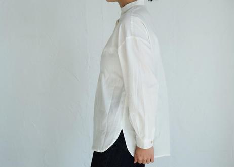 【AURA】コットンウール バンドカラーP/O  ホワイト
