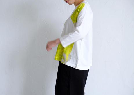 【grin】flower プリントbox Tシャツ #オフ/サンド