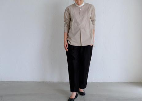 【NATURAL LAUNDRY】ブロードクレリックパネルシャツ