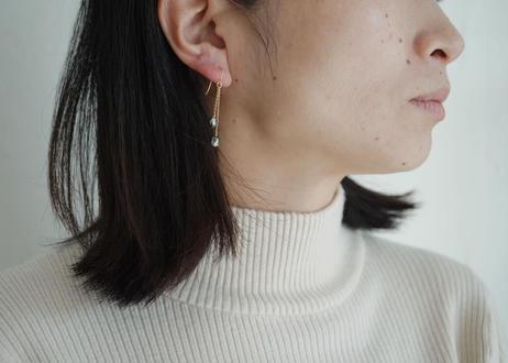 south sea pearl  2粒 long pierce
