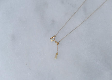 18k Akoya baby white 3粒necklace