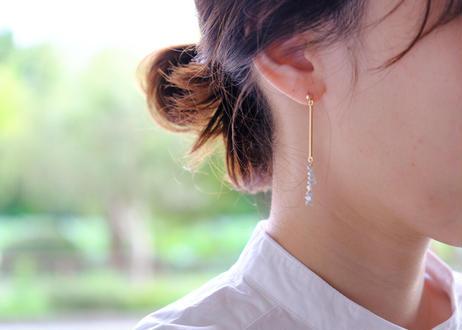 Akoya dew long bar pierce