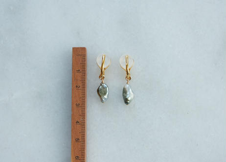 south sea pearl soft nonhole pierce (イヤリング)