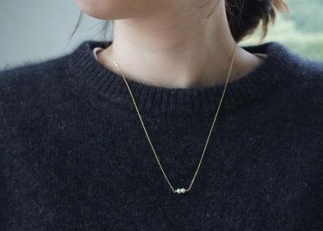 Akoya baby twin necklace