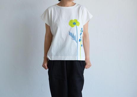 【grin】マナプール天竺 long flower Tシャツ