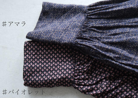 【UNIVERSAL TISSU】アソートパターン バンドカラーブラウス