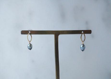 south sea pearl oval stud pierce