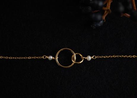 aurum 2ring  necklace