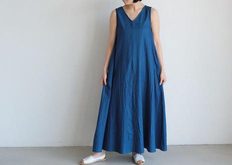 【UNIVERSAL TISSU 】ノースリーブ フレア ドレス