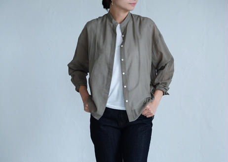 【Lim home 】 Flap shirt khaki