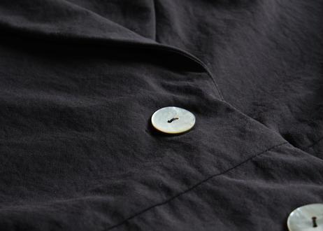 【AURA 】ナイロン天然染め ショールカラーコート#black