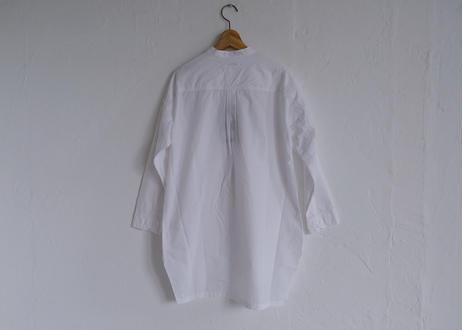 【TISSU】カッタウェイカフスワークシャツ #シロ