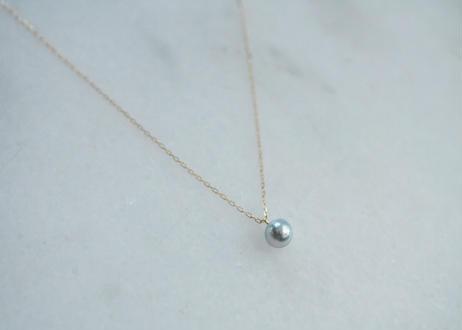 18k Akoya blue pearl  necklace
