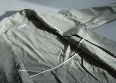 【AURA 】ナイロン天然染め ショールカラーコート#oak