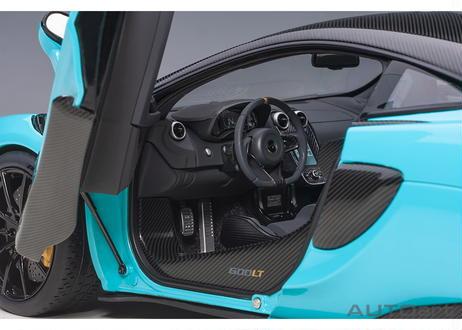 AUTOart 1/18 マクラーレン 600LT (ライトブルー・パール/カーボン・ルーフ) 76083