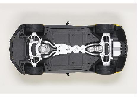 """""""再生産"""" AUTOart 1/18 シボレー コルベット (C7) Z06 C7.R エディション (イエロー) 71260"""