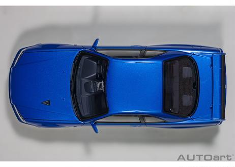 AUTOart 1/18 日産 スカイライン GT-R (R34) Vスペック II (ベイサイドブルー) 77408