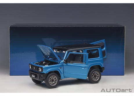 AUTOart 1/18 スズキ ジムニー (JB64) (ブルー・メタリック/ブラック・ルーフ) 78502
