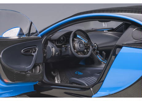 AUTOart 1/18 ブガッティ シロン スポーツ 2019 (フレンチ・ブルー/カーボン・ブラック) 70997