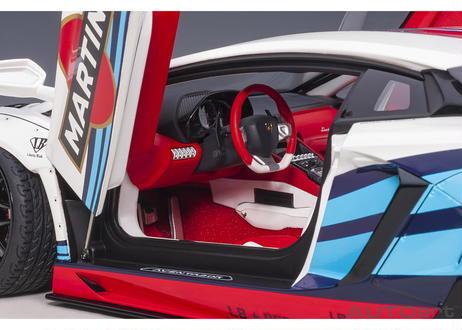 AUTOart 1/18 リバティーウォーク LB-WORKS ランボルギーニ アヴェンタドール リミテッドエディション (マルティニ) 79185