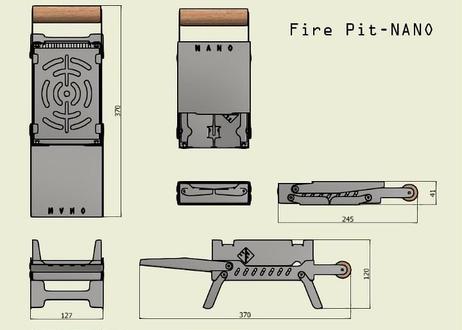 #FirePitNANO ポータブル焚火台〈送料レターパックプラス〉