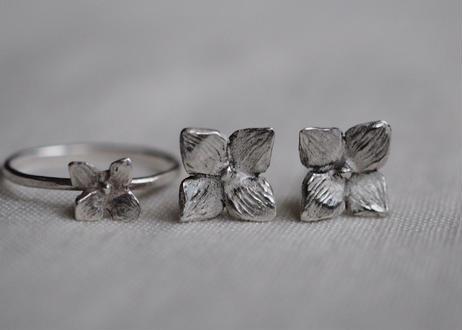 hydrangea pierce (silver925)