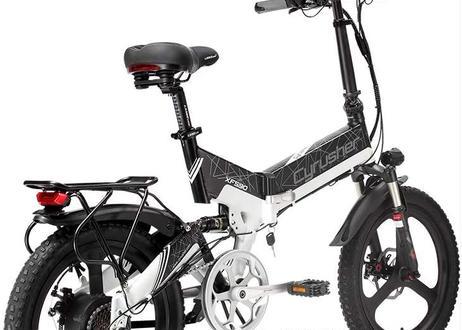Excy XF590 折り畳み自転車/電動アシスト自転車/48V 10Ah 500Wモーター・防水ライト付き・ミラーなど付属品付き・公道走行可能・防犯登録可能自転車・通勤通学用