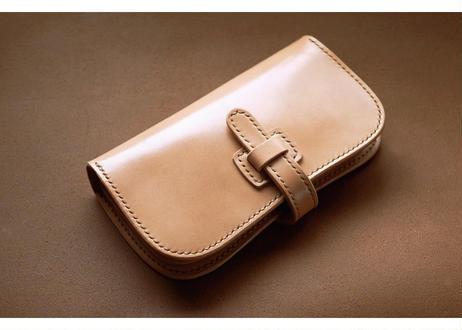 本革谷型長財布【フラップ】