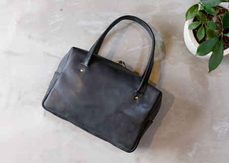 Square Tote Bag【  Tasogale 】-S size-|Black