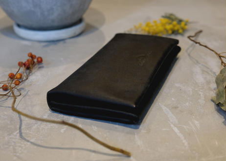 Compact Long Wallet 【 castello 】/ Nero