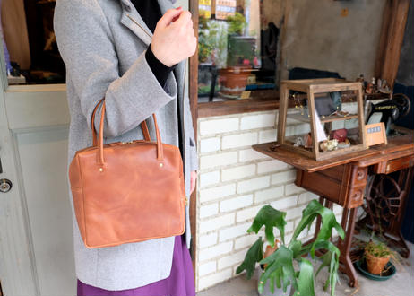 Square Tote Bag【  Tasogale 】-M size-|Light Brown