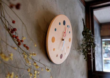 Wall clock【calmare】-M size-/ #Natural