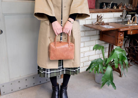 Square Tote Bag【  Tasogale 】-S size-|Light Brown
