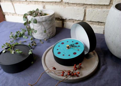 Wall clock【calmare】-S size-/ #Turquoise