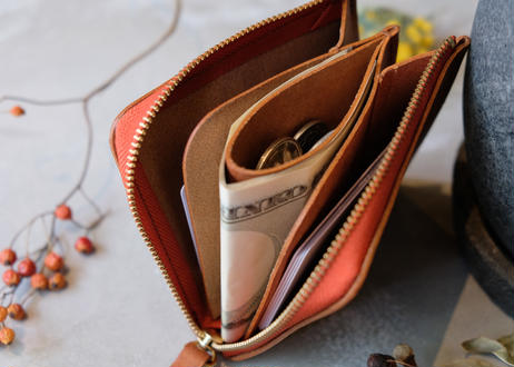 Mini Wallet【 tent 】/ Cognac