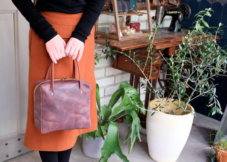 Square Tote Bag【  Tasogale 】-M size-|Dark Brown