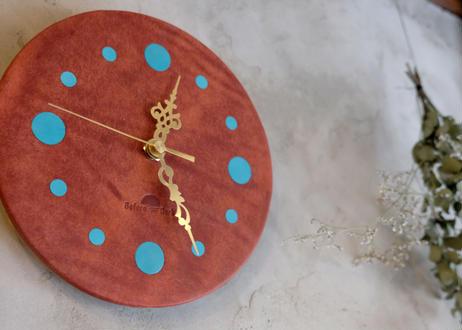 Wall clock【calmare】-M size-/ #Coccinella