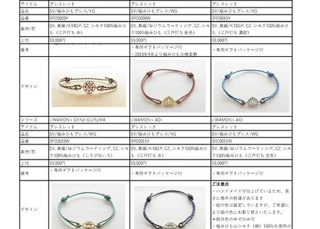 [WAMON] 昇苑京組みひも×ブレスレット / HANABISHI (花菱)WG(BR20009W)