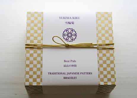 [WAMON PEARL]昇苑京組みひも×淡水パールブレスレット/YUKIWA KIKU(雪輪菊)YG(BR20003Y)