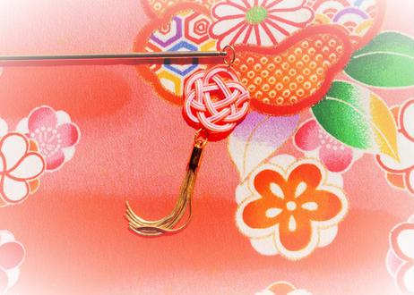 金沢水引とタッセルのかんざし・帯飾りの2way Mizuhiki and Tassel's Tairpin and Obi Decoration 2Way
