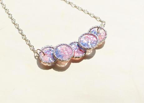 純金箔とシェルのネックレス  ~ 夜桜 ~ Pure Gold Leaf and Shells Necklace ~ Sakura at Night ~